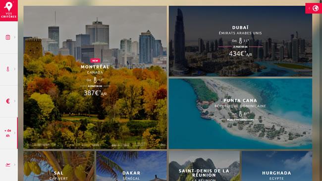 Inspiration voyage : liste des destinations