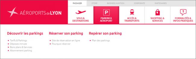 Navigation site web